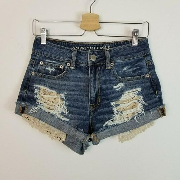 American Eagle Outfitters Pants - American Eagle Hi Rise Festival Shorts Crochet